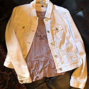 American eagle white jean jacket